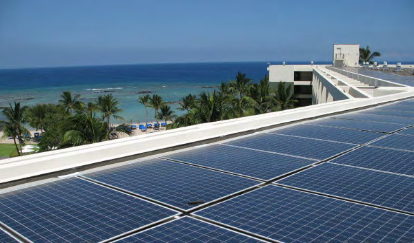 MAUNA LANI WILL REDUCE CARBON DIOXIDE EMISSIONS BY NEARLY 12,000 TONS OVER THE 25-YEAR LIFETIME OF ITS PHOTOVOLTAIC SYSTEM— THE EQUIVALENT OF PLANTING MORE THAN 765 ACRES OF TREES OR TAKING A CAR OFF THE ROAD FOR 6.8 MILLION MILES.
